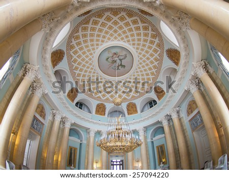 The Main Palace of Arkhangelskoe country estate, Moscow Region, Russia - stock photo