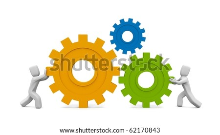 The main part of the mechanism - stock photo