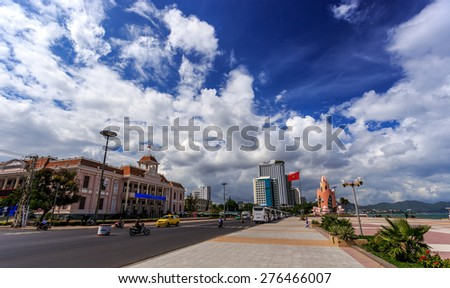 The Main Town Square On The Seafront In Nha Trang Vietnam