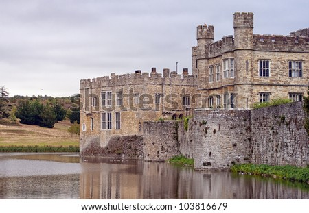 The majestic Leeds castle situated in the Kent region of England.