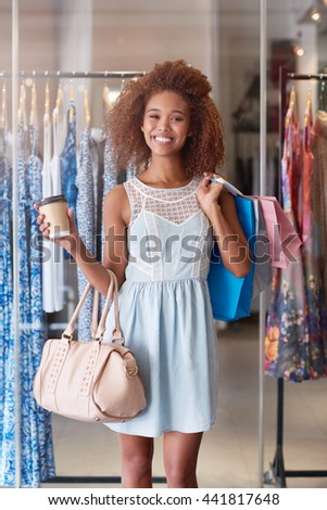 The mall is my second home - stock photo