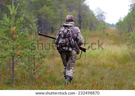 the man on the hunt - stock photo
