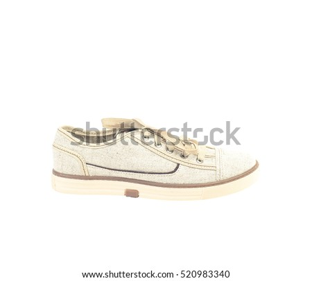 The man's shoes isolated on white background.