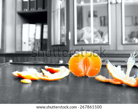 The mandarin. - stock photo