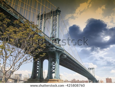 The Manhattan bridge.