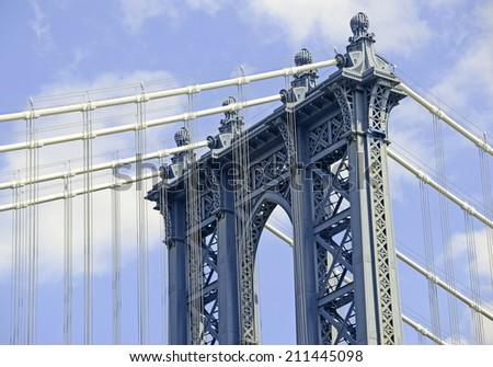 The Manhattan Bridge, New York City - stock photo