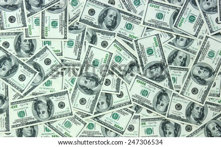the many dollars. money background