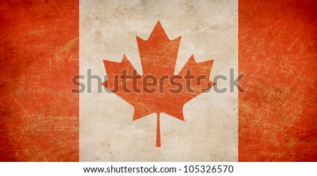 The Maple Leaf flag of Canada