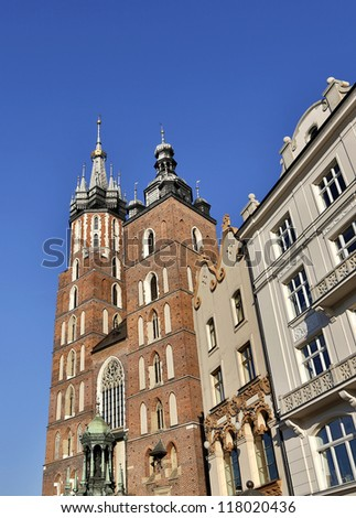 The Maria cathedral in Krakow