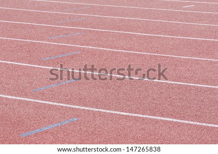 The markup on the racetracks track and field stadium. - stock photo