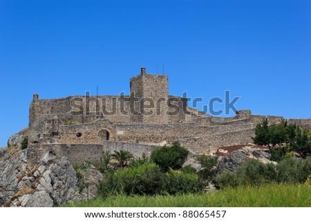 The Marvão fortress (Alentejo - Portugal) - stock photo