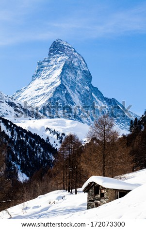 The Matterhorn in Switzerland - stock photo