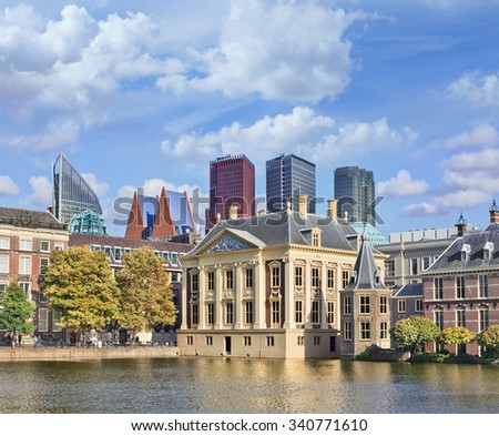 The Mauritshuis, art museum which houses Royal Cabinet of Paintings, The Hague, The Netherlands - stock photo