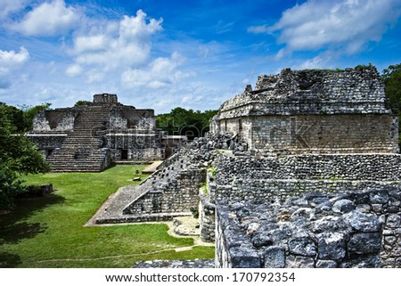The Mayan ruins at Ek Balam