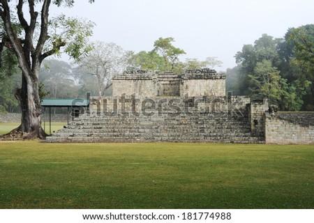The Mayan ruins of Copan on Honduras - stock photo