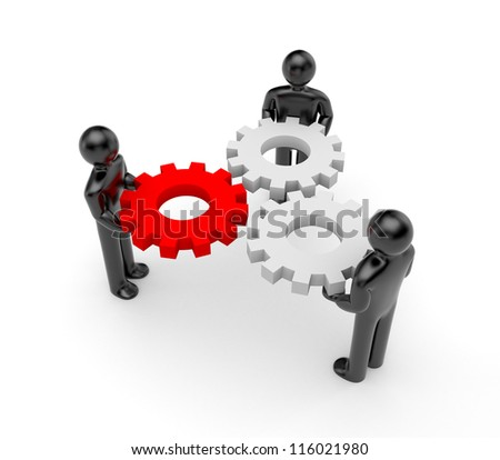 The mechanism with main part - stock photo
