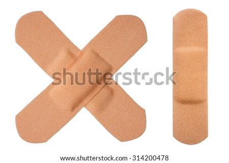The medical adhesive plaster, isolated - stock photo