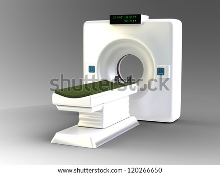the medical scanner - stock photo