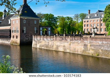 The Medieval Castle Amerongen in Netherlands