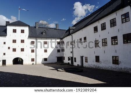 the medieval castle in Turku, Finland, Turun linna  - stock photo