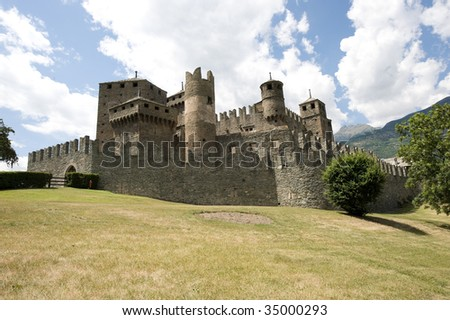 The medieval Castle of Fenis (Valle d'Aosta, Italy)