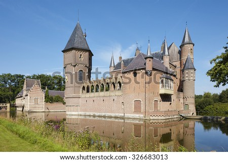 The Medieval Castle of Heeswijk, province Noord-Brabant, the Netherlands