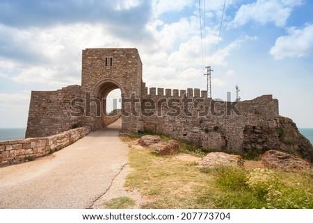 The medieval fortress of Kaliakra, Bulgarian Black Sea Coast - stock photo