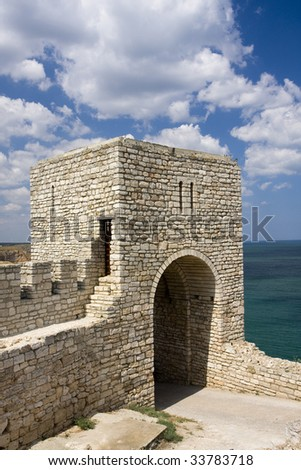 The medieval fortress on cape Kaliakra, Bulgaria