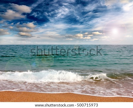 the Mediterranean Sea and a beautiful sandy beach