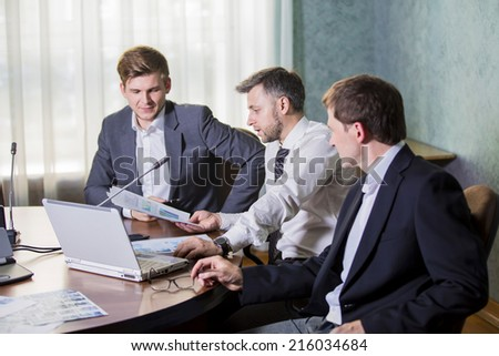 The meeting of the group of businessmen