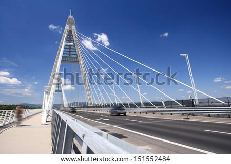 The Megyeri bridge. Hungary - stock photo