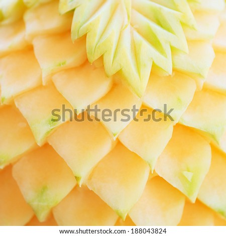 the melon carve from Thailand - stock photo