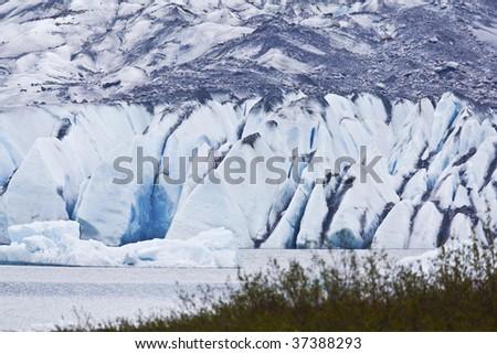 The Mendenhall Glacier in Juneau, Alaska - stock photo
