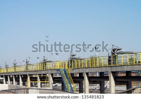 The metal pipelines petrochemical industry