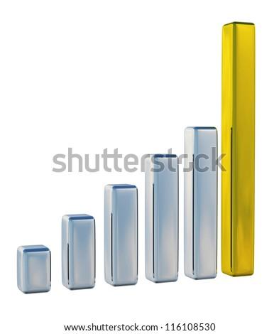The metallic chart on a white background - stock photo
