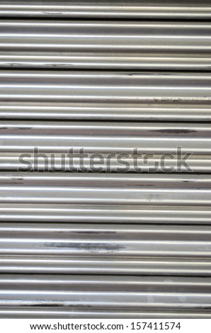 The metallic pattern of industrial gate