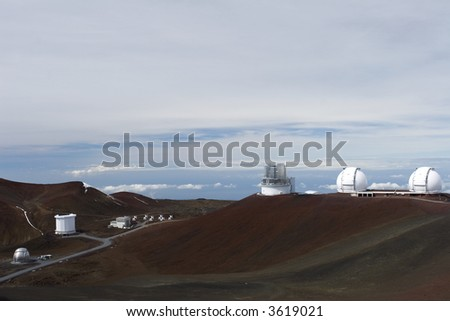 The 4,200 meter high summit of Mauna Kea in Hawaii houses the world's largest observatory for optical, infrared, and submillimeter astronomy
