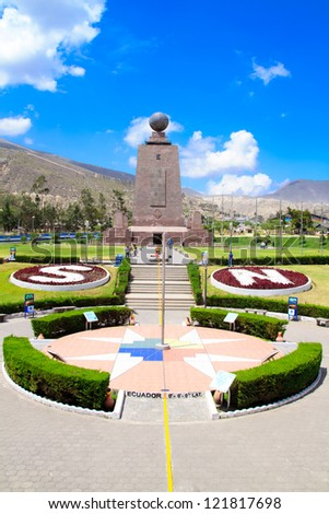The Middle of the World, Ecuador. - stock photo