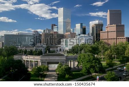 The Mile High City - Denver Colorado Skyline - stock photo