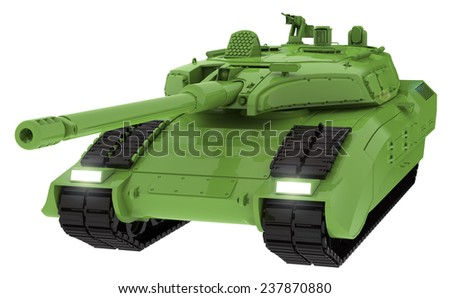the military tank - stock photo