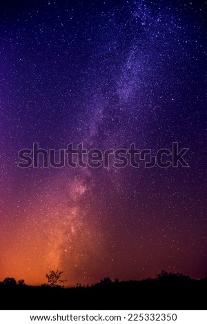 The Milky Way galaxy - stock photo