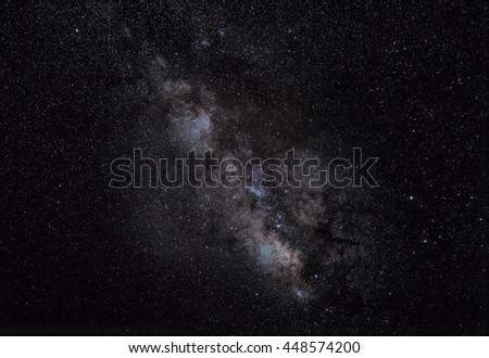 The Milky Way in correct astronomical and scientific colours.