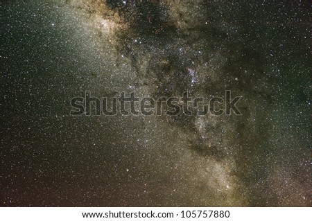 The Milky Way. Our galaxy. Long exposure photograph from an astronomical observatory site. - stock photo