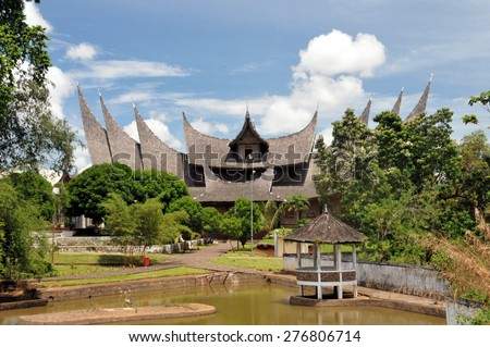 The Minagkabau House - Padang, Indonesia - stock photo