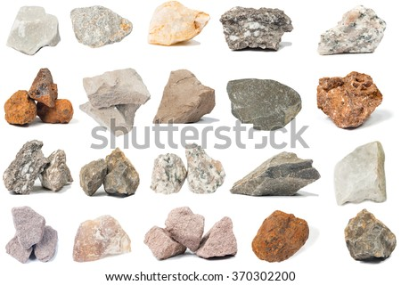 the Mineral  marlstone isolated on white background - stock photo