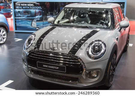 The 2016 Mini Cooper Hardtop at The North American International Auto Show January 13, 2015 in Detroit, Michigan.