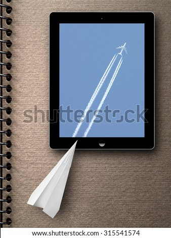 the miracle of technology - stock photo