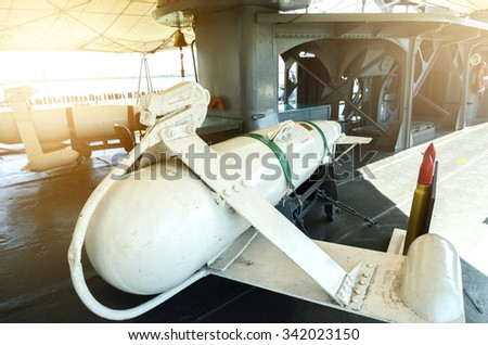 The missile does not use an warships . - stock photo