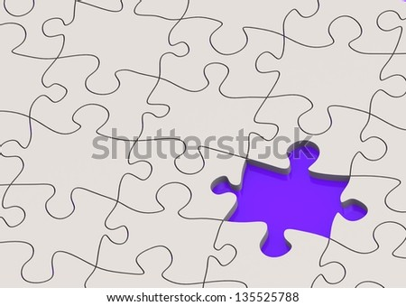 The missing puzzle - stock photo