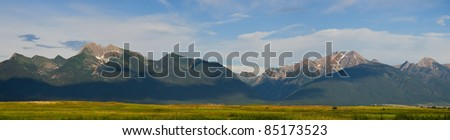 The Mission Valley and Mission Mountains, Lake County, Montana, USA